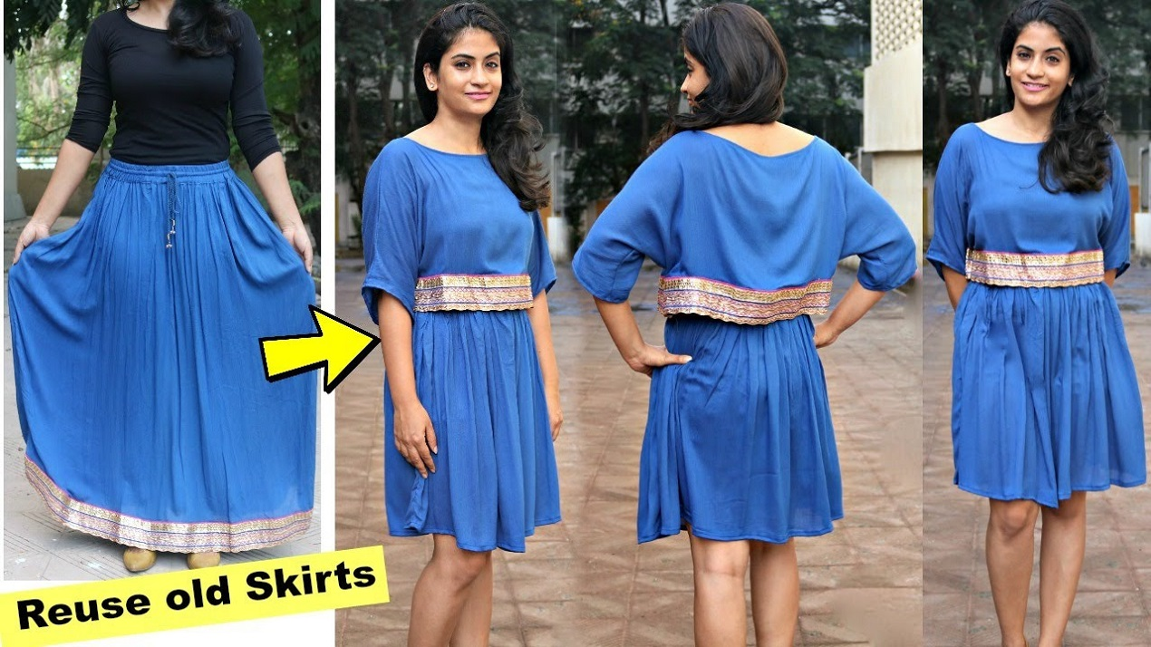How to turn your old dress into a skirt